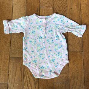 3/$20 - Carter's long sleeve henley onesie